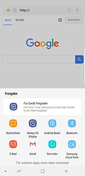 Samsung Galaxy S8 Plus - Android Oreo - Internet und Datenroaming - Verwenden des Internets - Schritt 20