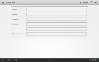 Samsung P7500 Galaxy Tab 10-1 - E-mail - Manual configuration - Step 7