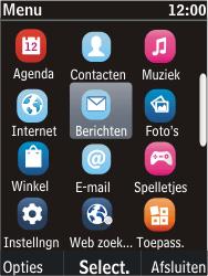 Nokia C2-05 - SMS - Handmatig instellen - Stap 3