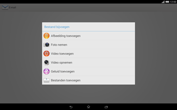 Sony Xperia Tablet Z2 (SGP521) - E-mail - e-mail versturen - Stap 10