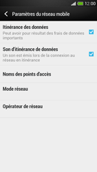 HTC One Mini - Internet et roaming de données - Désactivation du roaming de données - Étape 5