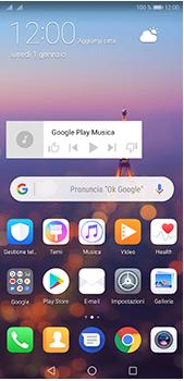 Huawei P20 Pro - Operazioni iniziali - Installazione di widget e applicazioni nella schermata iniziale - Fase 10