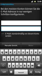 Sony Xperia S - E-Mail - Konto einrichten - Schritt 6
