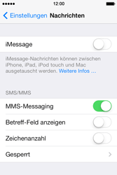 Apple iPhone 4 S mit iOS 7 - MMS - Manuelle Konfiguration - Schritt 12