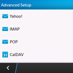 BlackBerry Q10 - E-mail - Manual configuration - Step 7
