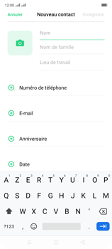 Oppo Reno 2 - Contact, Appels, SMS/MMS - Ajouter un contact - Étape 5