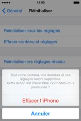 Apple iPhone 4S (iOS 8) - Aller plus loin - Restaurer les paramètres d'usines - Étape 7