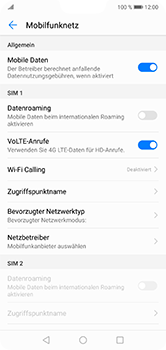 Huawei P20 Lite - Netzwerk - Manuelle Netzwerkwahl - Schritt 5