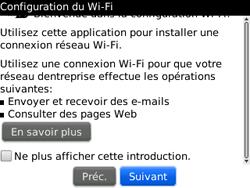 BlackBerry curve 3G - Internet et connexion - Accéder au réseau Wi-Fi - Étape 5