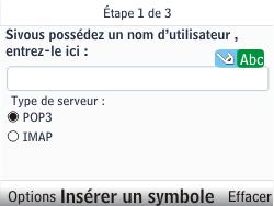 Nokia C3-00 - E-mail - Configuration manuelle - Étape 7