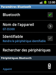 Samsung S5300 Galaxy Pocket - Bluetooth - connexion Bluetooth - Étape 12