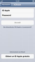 Apple iPhone 5 - Applicazioni - configurazione del servizio Apple iCloud - Fase 4
