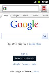 Samsung S7500 Galaxy Ace Plus - Internet - Internet browsing - Step 6