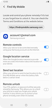 Samsung galaxy-s9-plus-android-pie - Device - Enable Find my Phone - Step 8