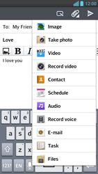 LG D505 Optimus F6 - E-mail - Sending emails - Step 11