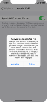 Apple iPhone X - iOS 12 - WiFi - Activez WiFi Calling - Étape 7