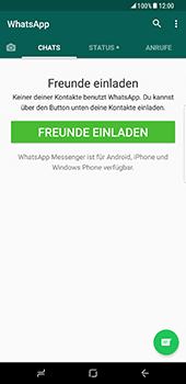 Samsung Galaxy S8 Plus - Datenschutz und Sicherheit - WhatsApp schützen und Datenschutz verwalten - 4 / 18