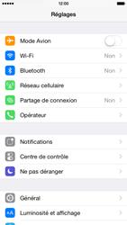 Apple iPhone 6 iOS 8 - Internet et roaming de données - Comment vérifier que la connexion des données est activée - Étape 3