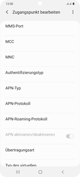Samsung Galaxy S20 5G - MMS - Manuelle Konfiguration - Schritt 14