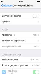 Apple iPhone SE - iOS 11 - Internet et roaming de données - Comment vérifier que la connexion des données est activée - Étape 4