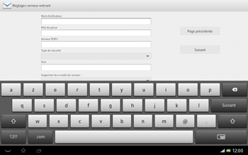 Sony Xperia Tablet Z LTE - E-mail - Configuration manuelle - Étape 8