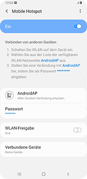 Samsung Galaxy Note9 - Android Pie - WiFi - So aktivieren Sie einen WLAN-Hotspot - Schritt 13