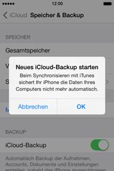 Apple iPhone 4S iOS 7 - Apps - Konfigurieren des Apple iCloud-Dienstes - Schritt 11
