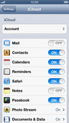 Apple iPhone 5 - Applications - configuring the Apple iCloud Service - Step 8