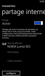 Nokia Lumia 925 - Internet et connexion - Partager votre connexion en Wi-Fi - Étape 6