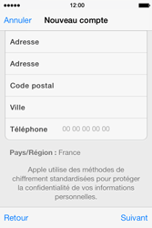 Apple iPhone 4 S iOS 7 - Applications - Créer un compte - Étape 22