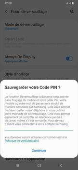 Samsung Galaxy A50 - Sécuriser votre mobile - Activer le code de verrouillage - Étape 12
