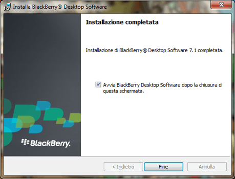 BlackBerry Q10 - Software - Installazione del software di sincronizzazione PC - Fase 11