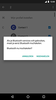 Android One GM5Plus DS - Contactgegevens overzetten - delen via Bluetooth - Stap 10