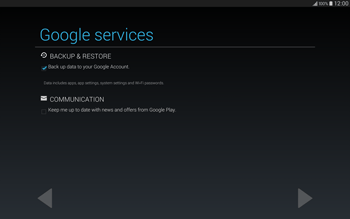 Samsung T805 Galaxy Tab S - Applications - Setting up the application store - Step 14