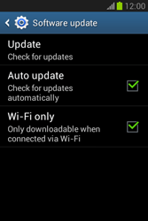 Samsung Galaxy Fame Lite - Software - Installing software updates - Step 7