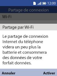 Alcatel 3088X - Internet et connexion - Partager votre connexion en Wi-Fi - Étape 12
