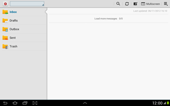 Samsung N8000 Galaxy Note 10-1 - E-mail - Sending emails - Step 4