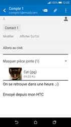 HTC Desire 626 - E-mail - Envoi d