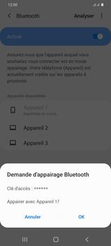Samsung Galaxy S20+ - Internet et connexion - Connexion avec un équipement multimédia via Bluetooth - Étape 9