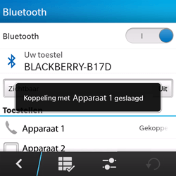 BlackBerry Q5 - bluetooth - headset, carkit verbinding - stap 9