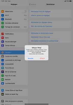 Apple iPad Pro 11 (2018) - iPadOS 13 - Téléphone mobile - Réinitialisation de la configuration d