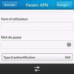 BlackBerry Q10 - Internet et roaming de données - Configuration manuelle - Étape 10