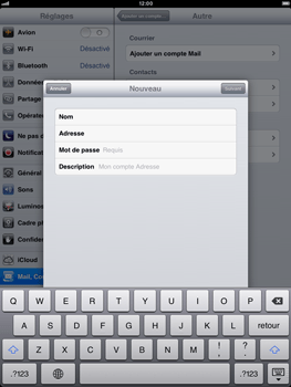 Apple iPad Retina - E-mail - Configuration manuelle - Étape 12