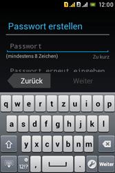 Sony Xperia Tipo Dual - Apps - Konto anlegen und einrichten - 1 / 1