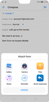 Huawei P20 - E-mail - Sending emails - Step 10