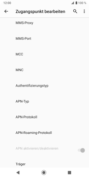 Sony Xperia XZ3 - Internet - Manuelle Konfiguration - Schritt 16