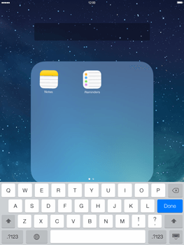 Apple iPad Retina iOS 7 - Getting started - Personalising your Start screen - Step 5