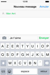 Apple iPhone 4S (iOS 8) - Contact, Appels, SMS/MMS - Envoyer un SMS - Étape 8