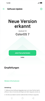 Oppo Find X2 Neo - Software - Installieren von Software-Updates - Schritt 6
