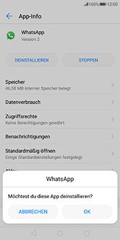 Huawei Mate 10 Pro - Apps - Eine App deinstallieren - Schritt 7